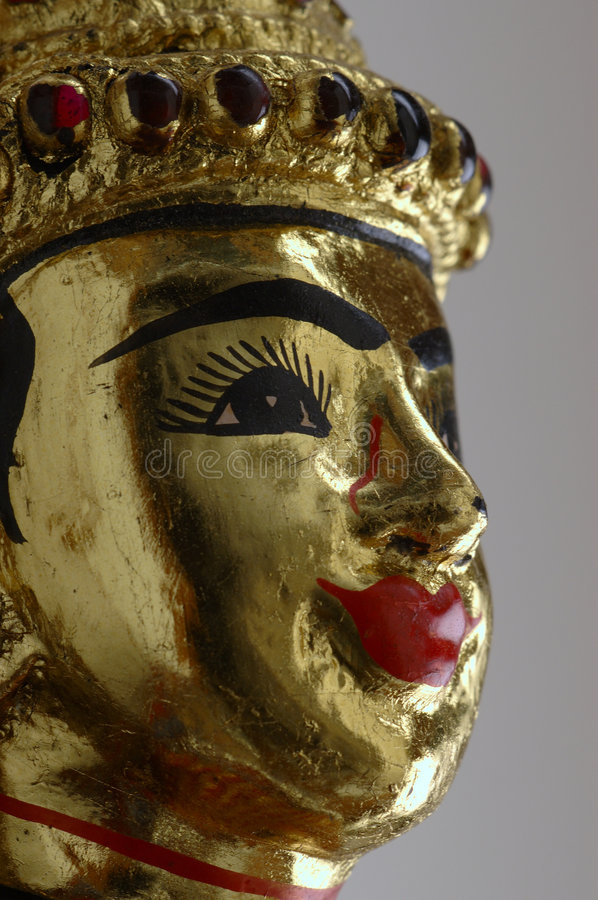 Face of Thai marionette royalty free stock photography