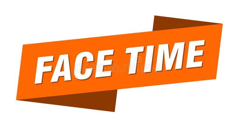 face time banner模板 面时带标签 向量例证