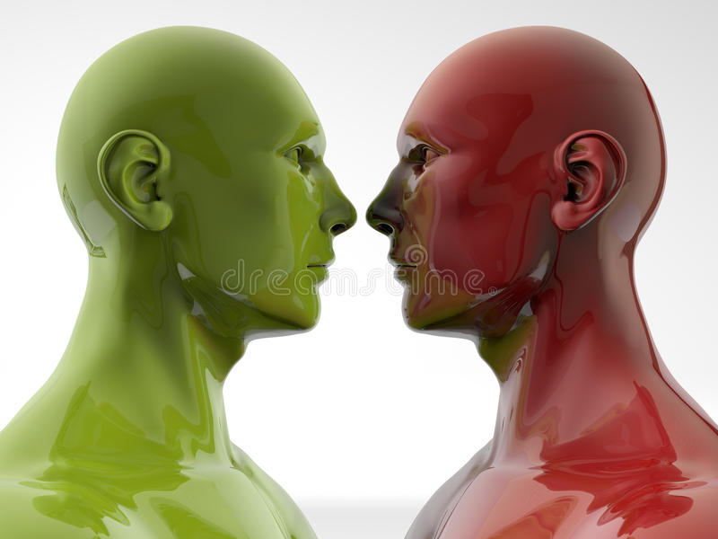 Face to face stock illustratie