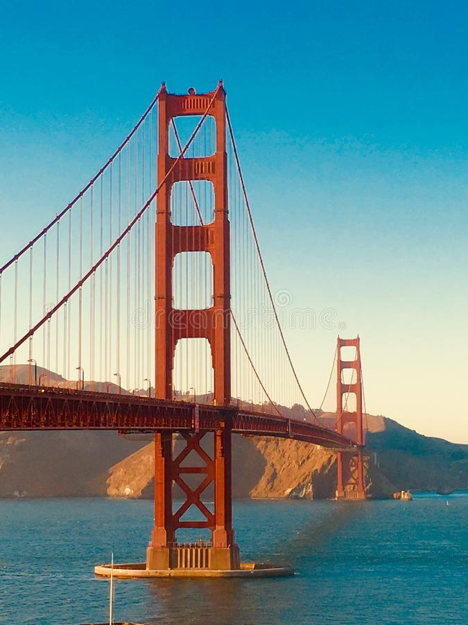 Face to face with the Golden Gate royalty free stock photography