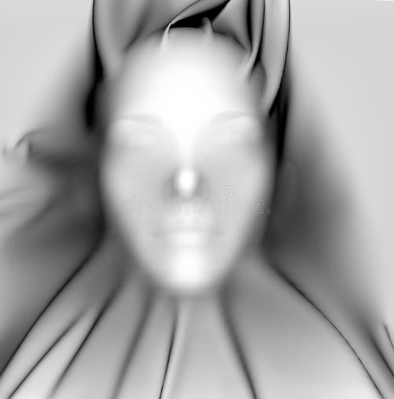 Face under sheet stock illustration