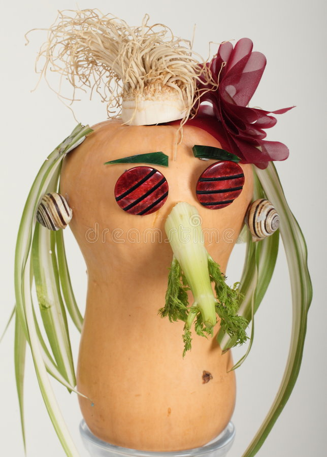 Face from vegetables royalty free stock photo