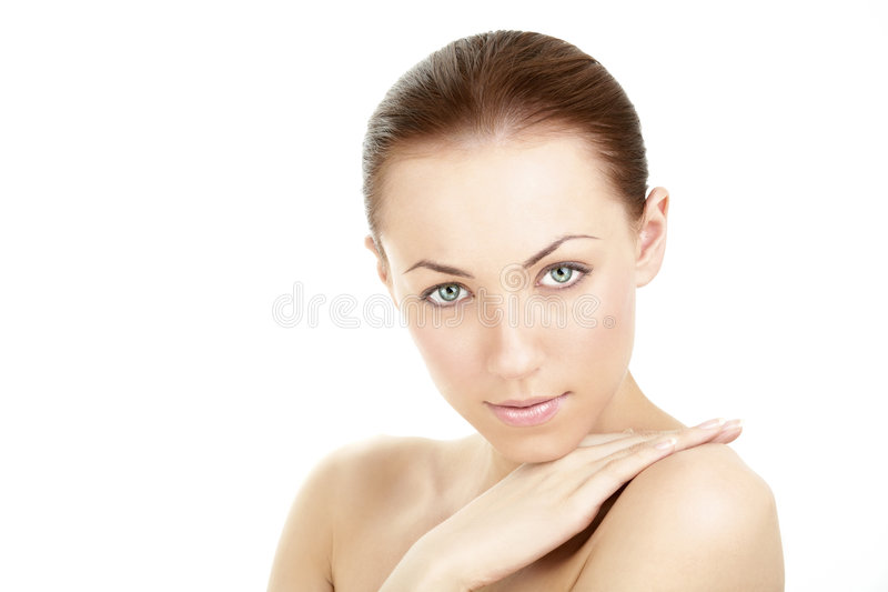 A face well-groomed imagem de stock