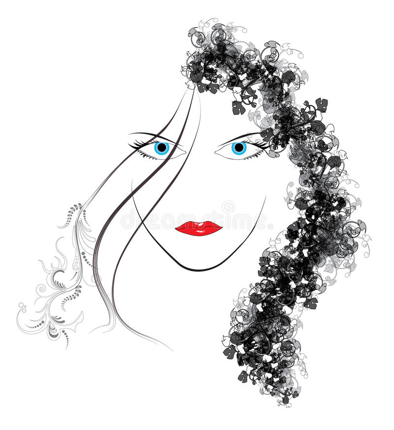 Download Face of woman stock illustration. Image of cosmetic, face - 22167993