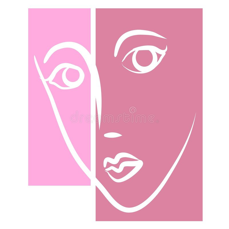 Face of Woman Female Clipart vector illustration