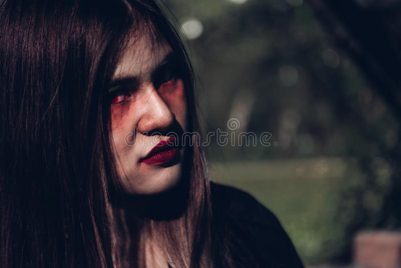 Face of woman ghost she is scary stock photos