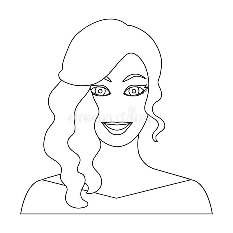 The face of a woman with a hairdo. vector illustration