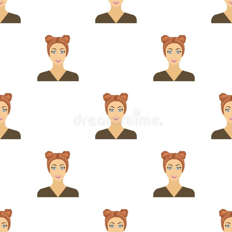 The face of a woman with a hairdo. stock illustration