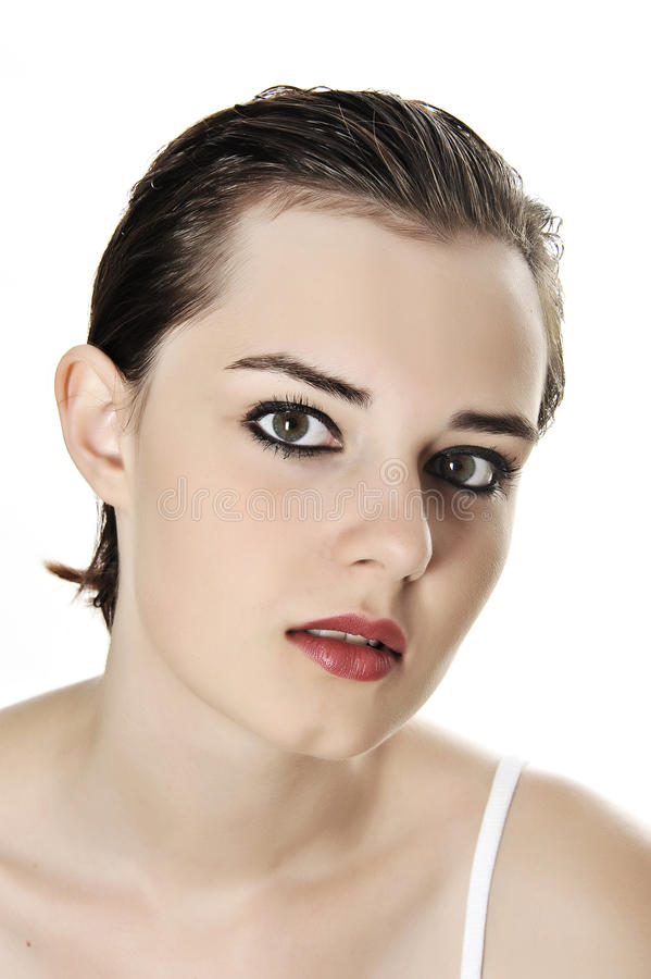Download Face Of Young Girl With Make Up Stock Image - Image: 25788711