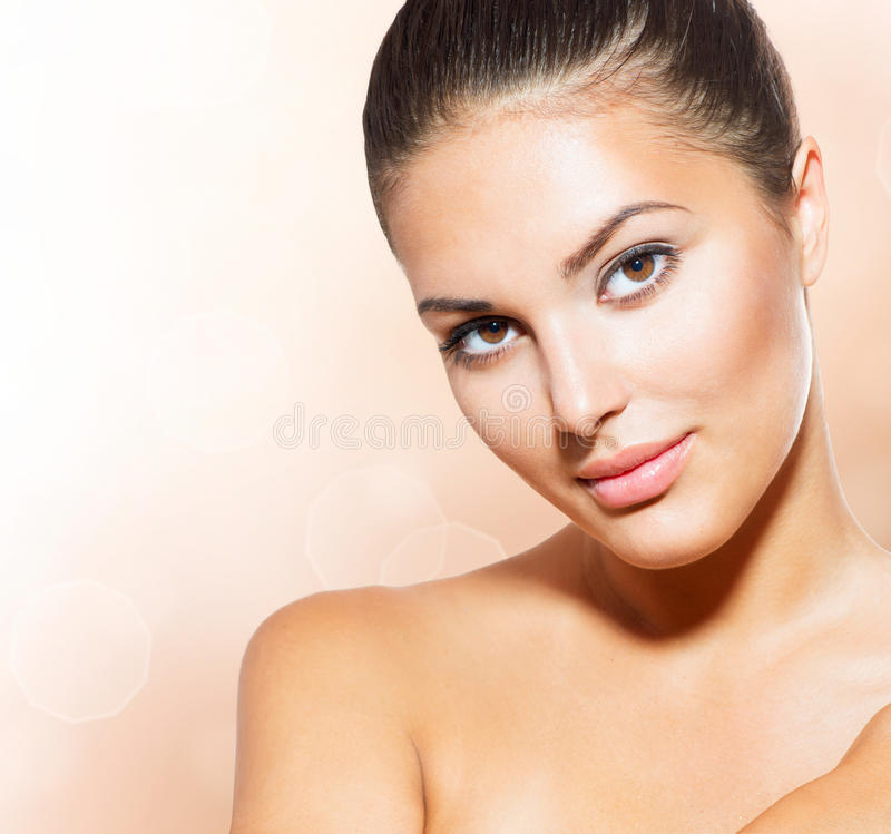 Face of Young Woman stock photography