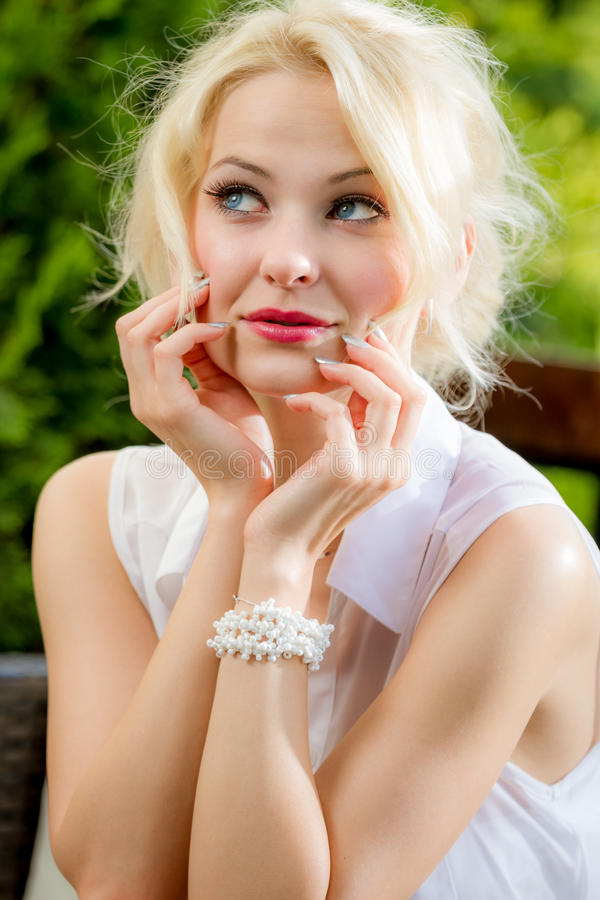 The face young woman royalty free stock photos
