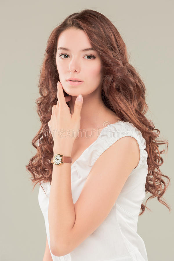 The face of young woman royalty free stock images