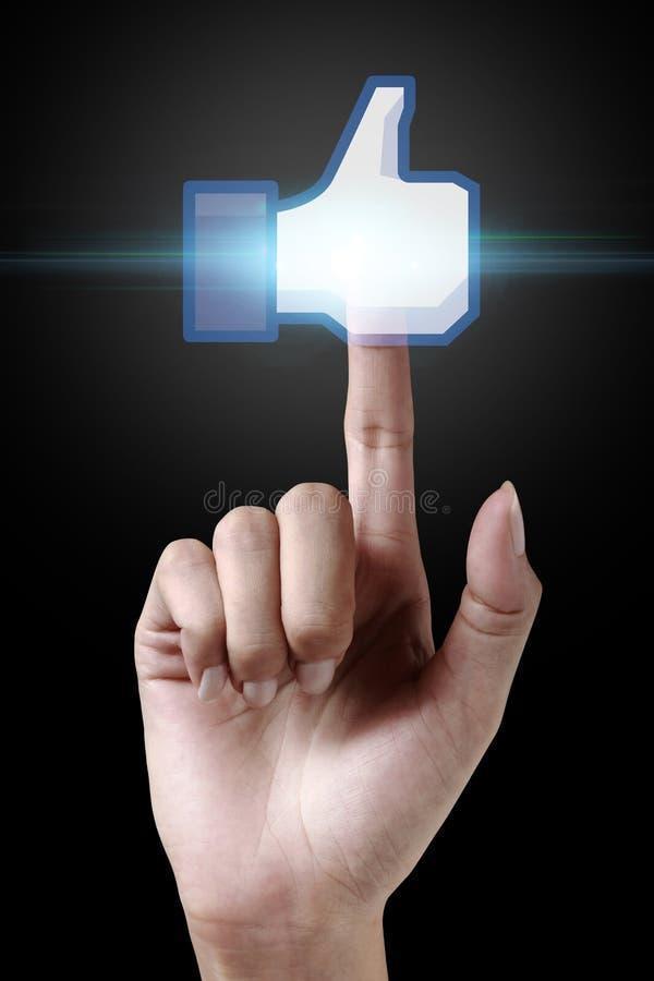 Facebook喜欢图标 库存图片