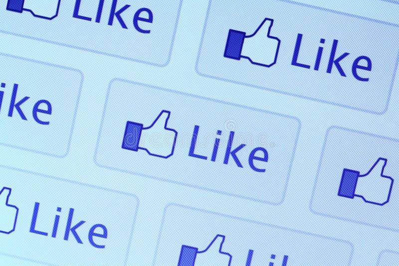 Facebook喜欢图标 免版税库存照片