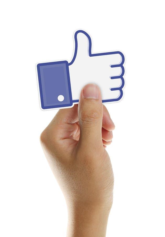 Facebook喜欢按钮 免版税库存图片