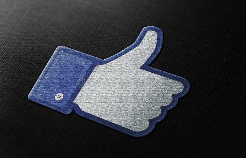 Facebook喜欢 图库摄影