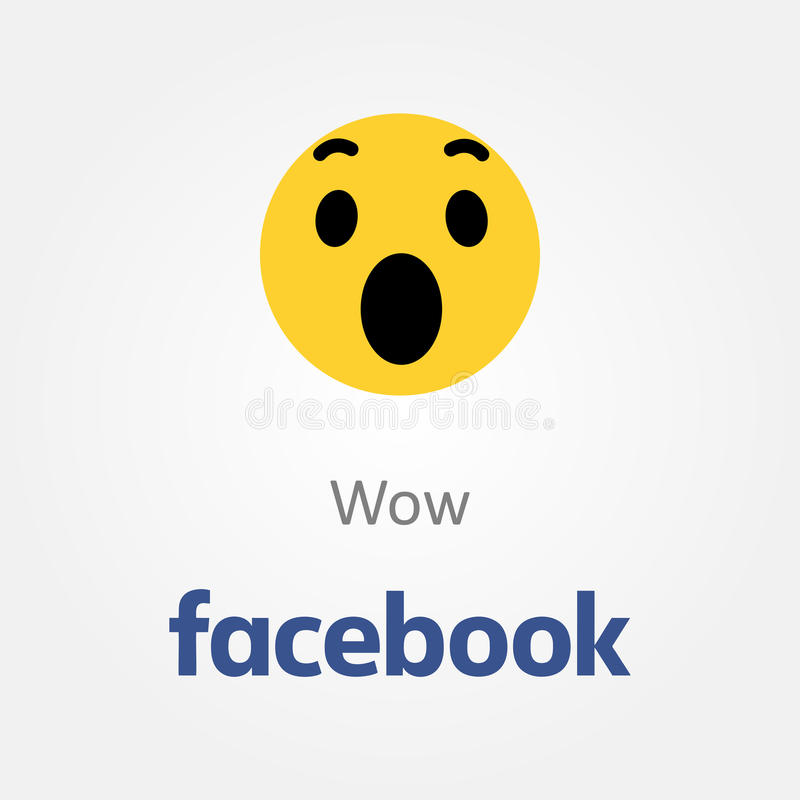 Facebook情感象 Wow emoji传染媒介 皇族释放例证