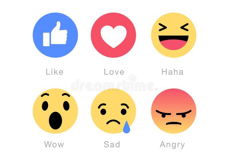 Facebook意思号商标 库存例证