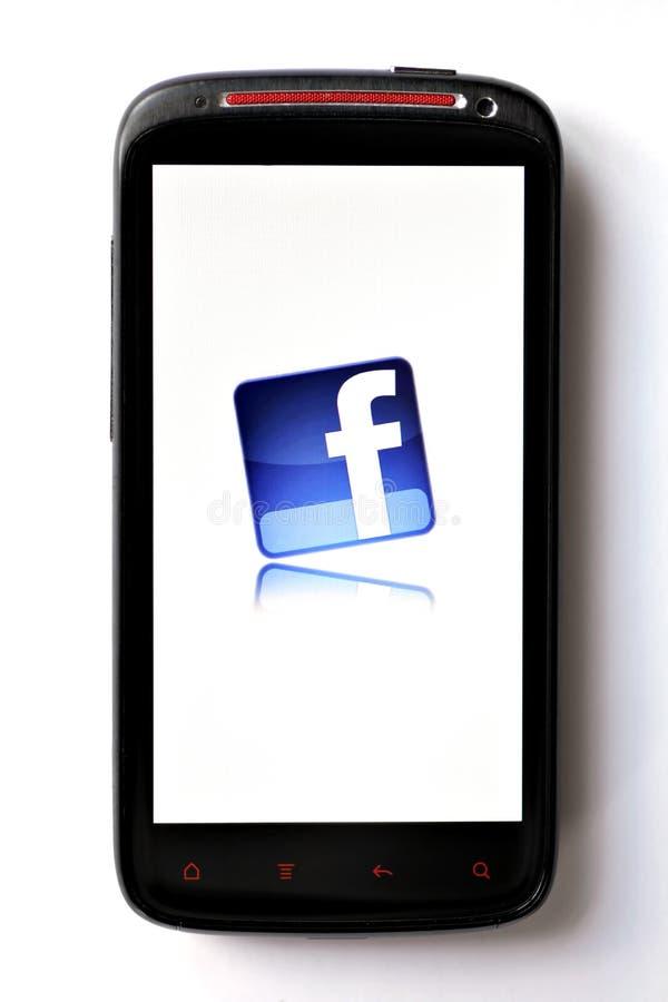 facebook电话 库存图片