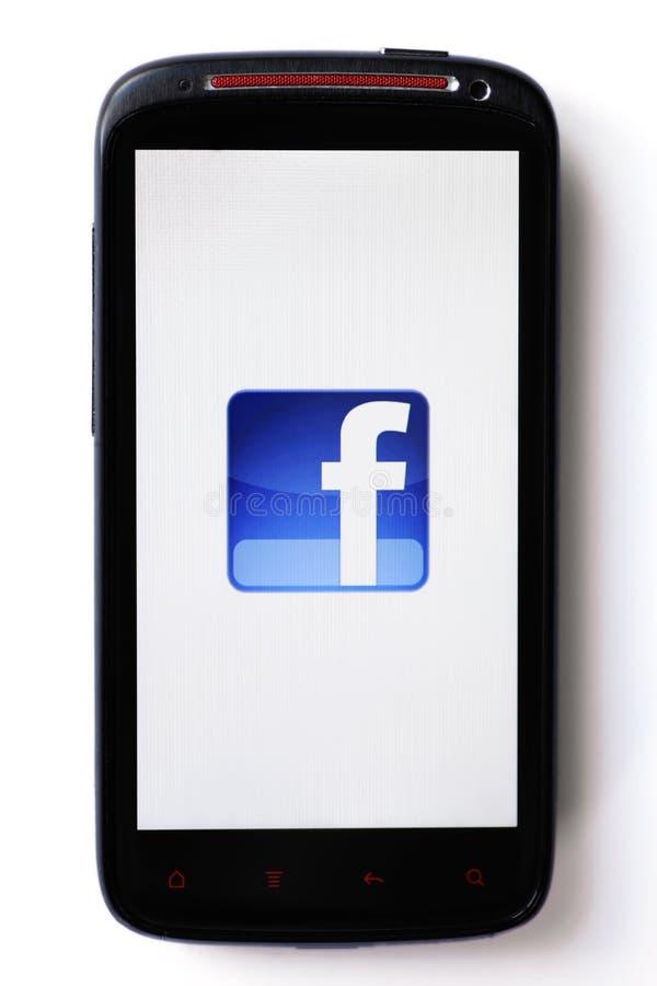 facebook电话 免版税库存图片