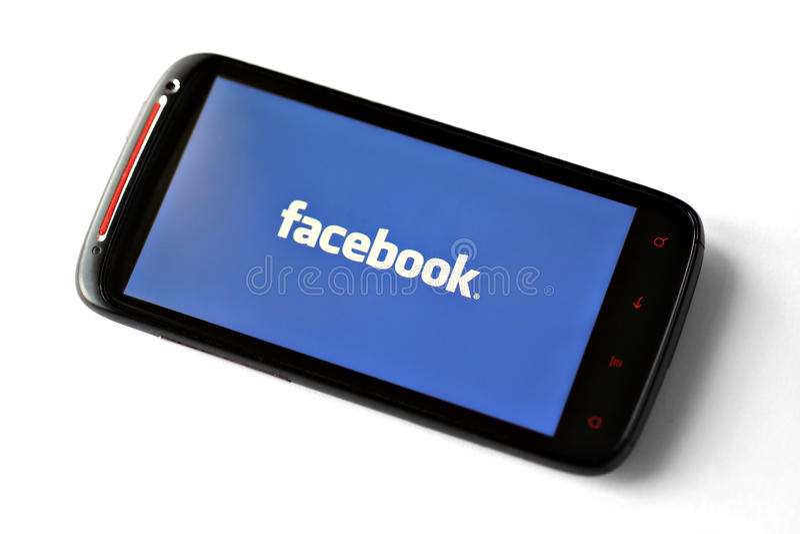 facebook电话 免版税库存照片