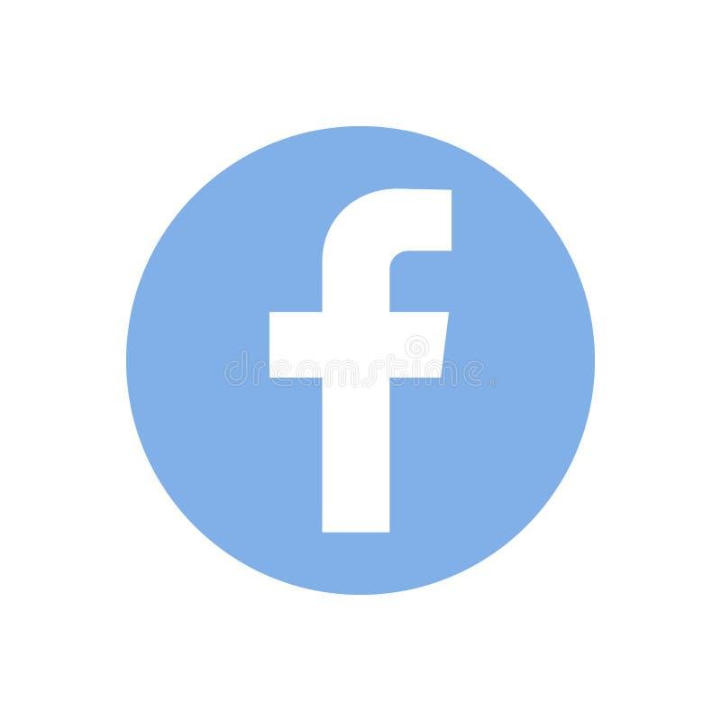 Facebook,社会网络商标在白皮书,背景打印了 库存例证