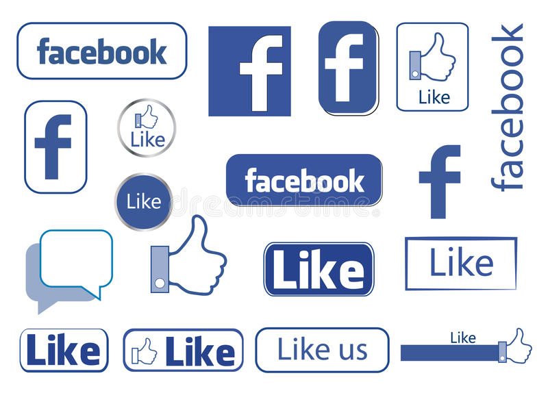 Facebook όπως ελεύθερη απεικόνιση δικαιώματος