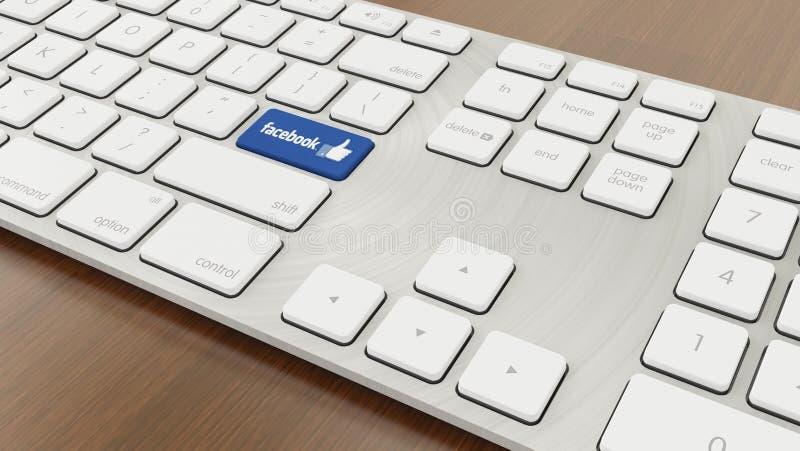 Facebook клавиатуры стоковое фото