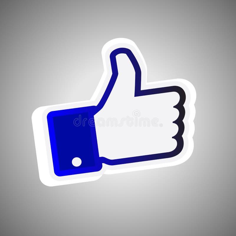 facebook любит большой пец руки знака вверх бесплатная иллюстрация