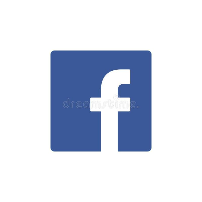 Facebook покрасило значок Элемент социального значка иллюстрации логотипов средств массовой информации Знаки и символы можно испо иллюстрация вектора