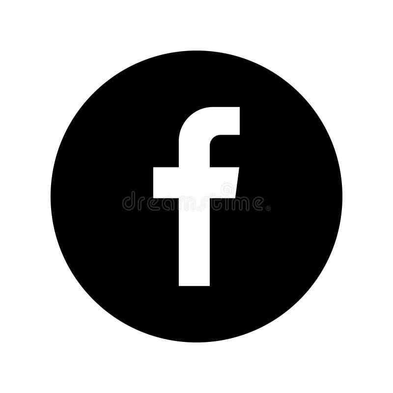 Facebook social media icon button vector illustration