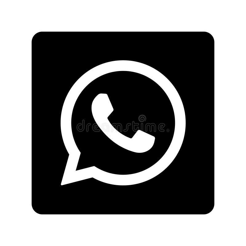 Whatsapp social media icon button royalty free illustration
