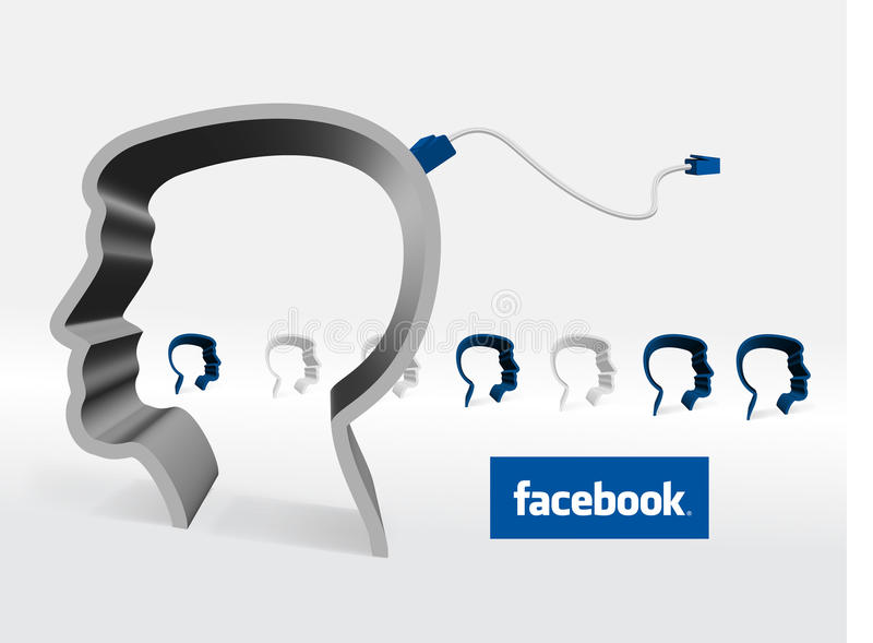 facebook stock illustrationer