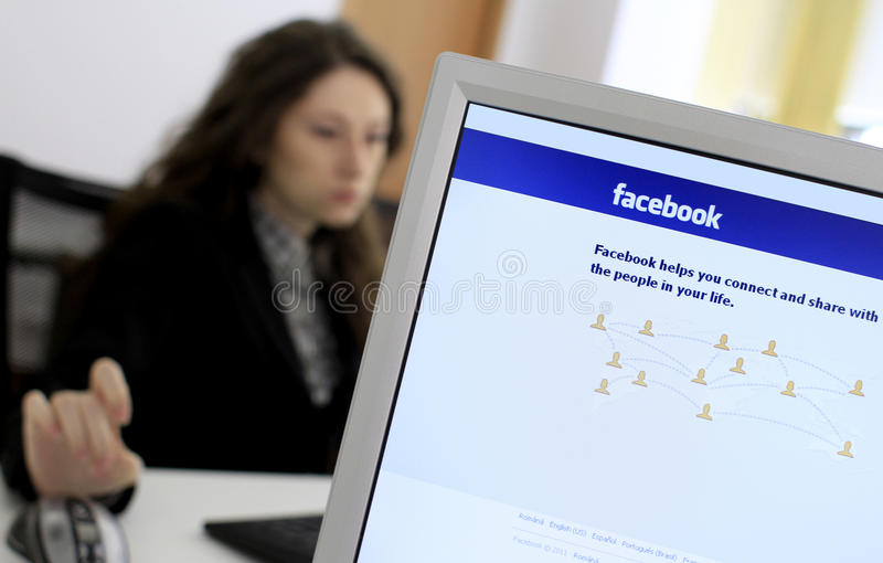 facebook obraz royalty free