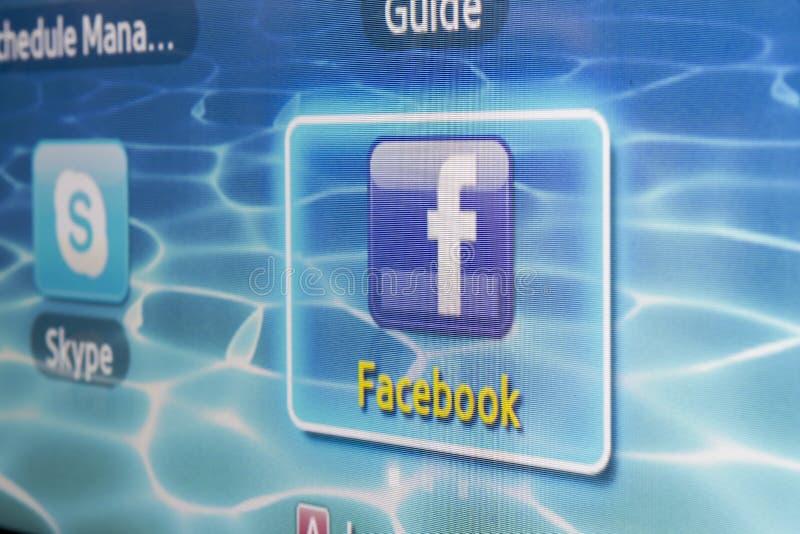 Facebook стоковое изображение rf