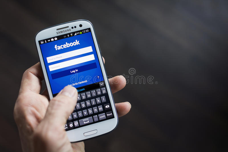 Facebook стоковые фотографии rf