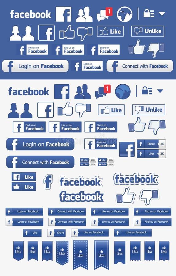 Facebook иллюстрация вектора