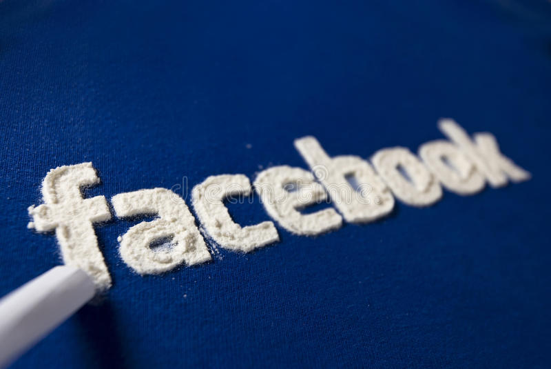 Facebook addiction royalty free stock photography
