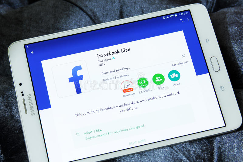 Facebook editorial stock photo  Image of mania, tablet - 74682623