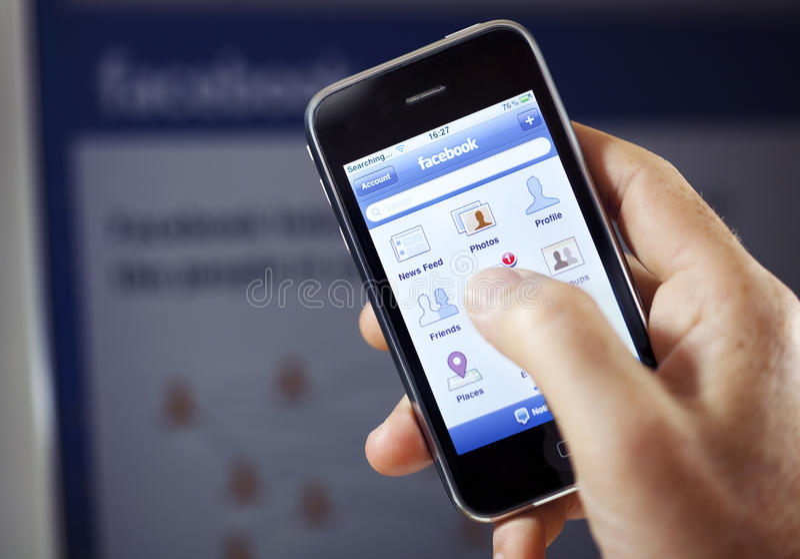 Facebook App sul iPhone del Apple
