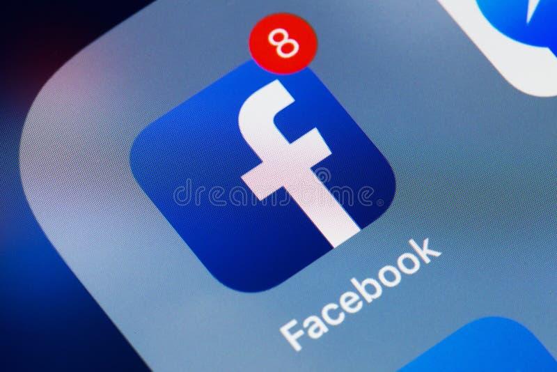 Facebook application icon stock photos