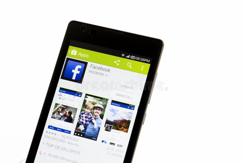 Facebook apps royaltyfri bild