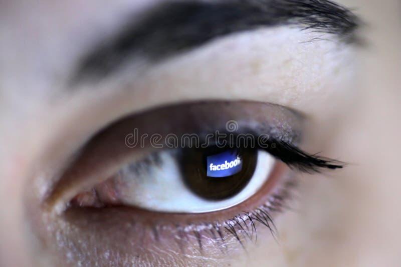 Facebook Auge lizenzfreies stockfoto