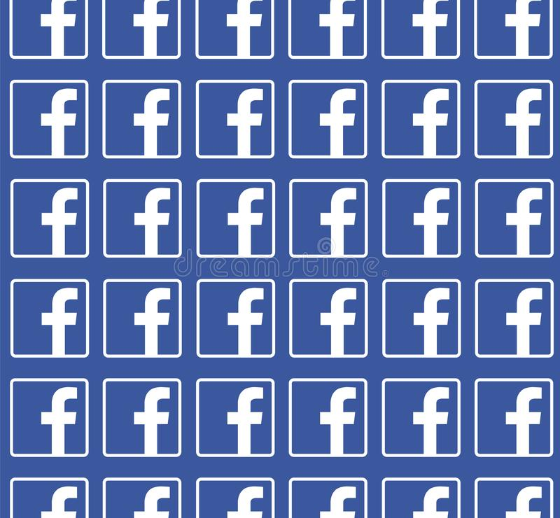 Facebook błękitny tło z logo wzorem Czysty wektorowy projekt Ogólnospołeczny medialny pojęcie ilustracji