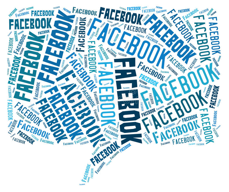Facebook chmura ilustracji