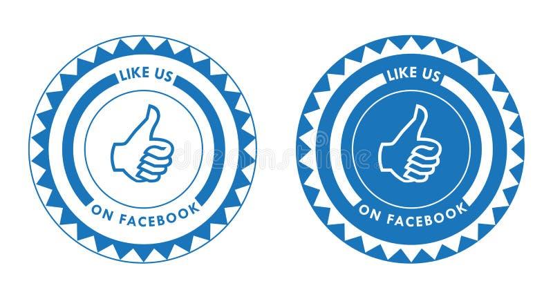 Facebook ci gradisce royalty illustrazione gratis