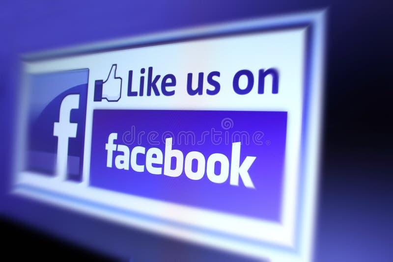 Facebook ci gradisce icona immagine stock libera da diritti