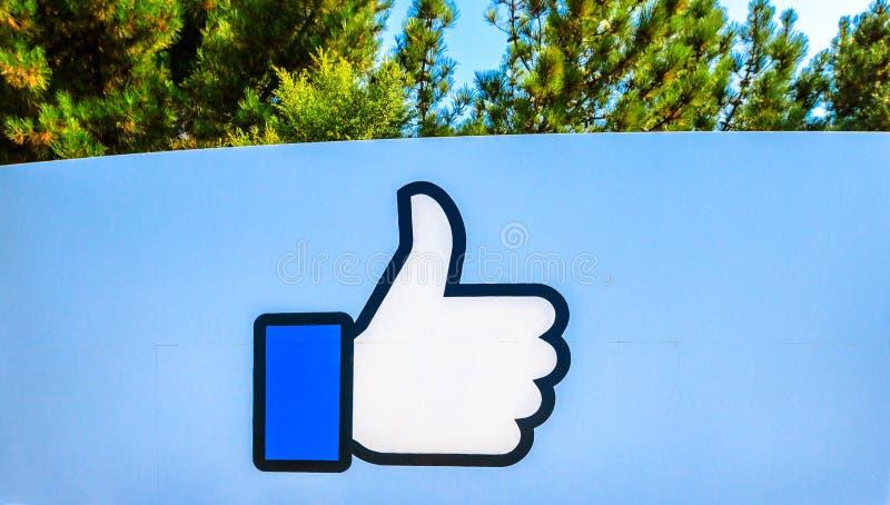 Facebook comme le logo d'isolement photographie stock libre de droits