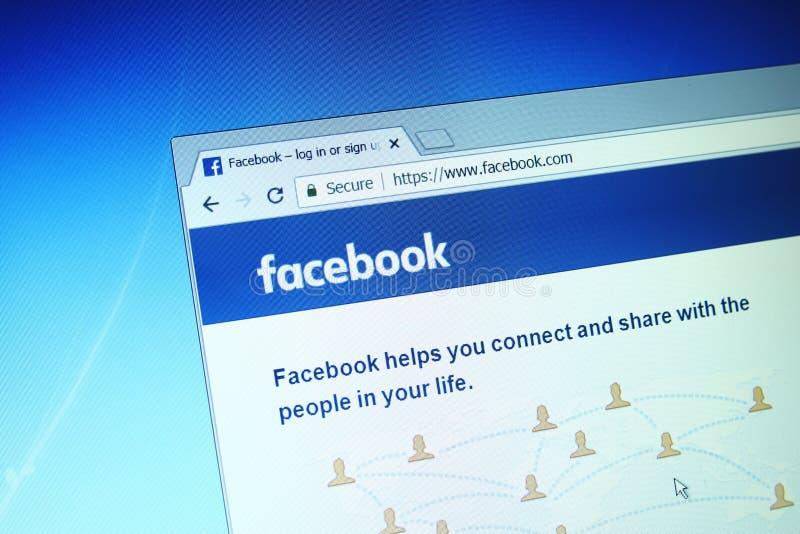 Facebook computer screen royalty free stock photography