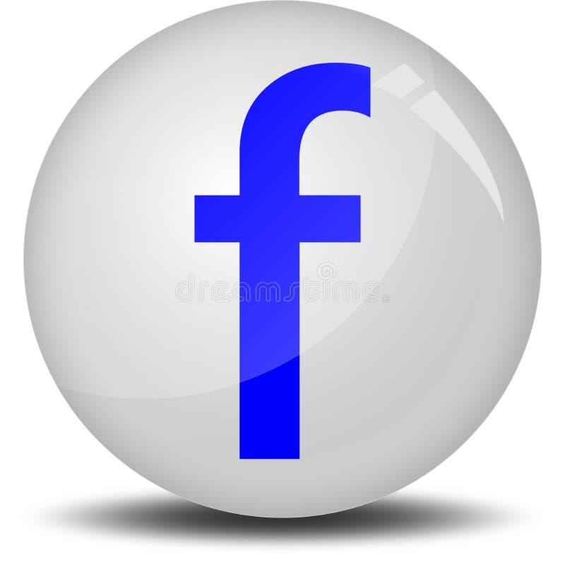 Facebook 3D ikona royalty ilustracja